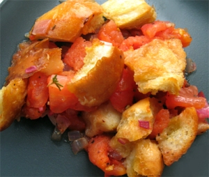 Baked tomatoes with buttery breadcrumbs - perfect side for the end of summer!