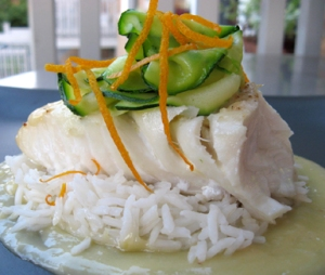 Halibut with Citrus Beurre Blanc sauce